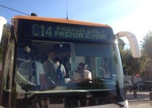 La línia de bus C14