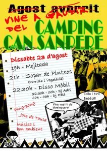 Cartell Càmping Can Sanpere