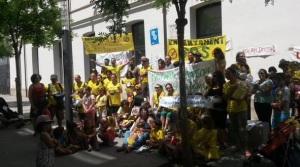 Imatge d'una manifestació de l'AMPA