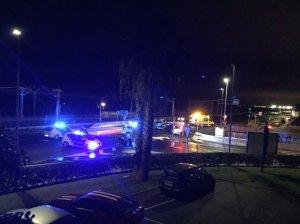 Imatgte de l'indret on ha tingut lloc l'accident poca estona després (foto: Vilassar Ràdio)